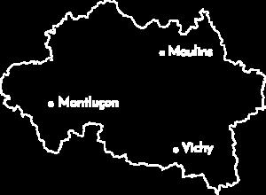 Montluçon relocation - Carte Allier_Montluçon